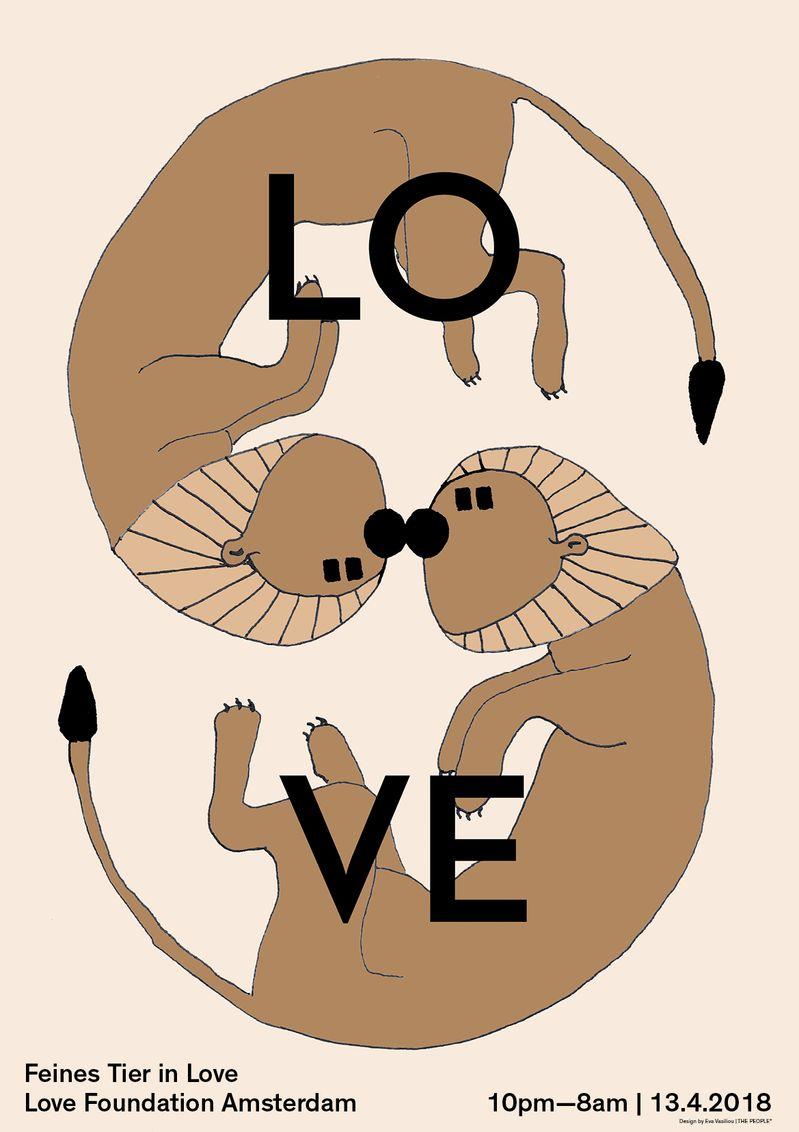 Feines Tier in Love Poster